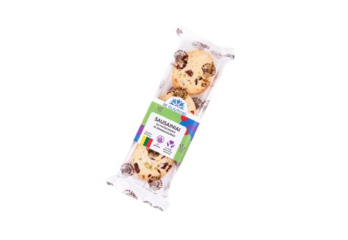 Be gliuteno sausainiai su pistacijomis ir spanguolėmis 2