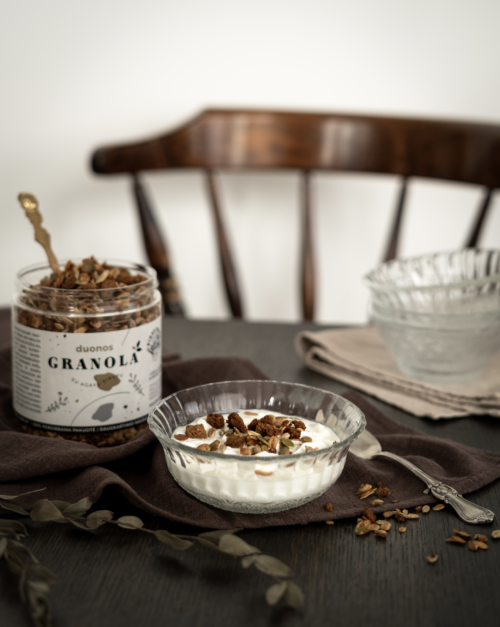 Duonos granola (su agavų sirupu)