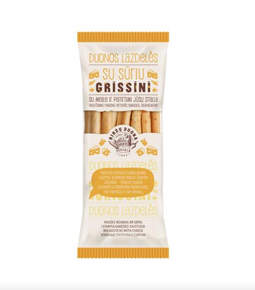 Grissini duonos lazdelės su sūriu